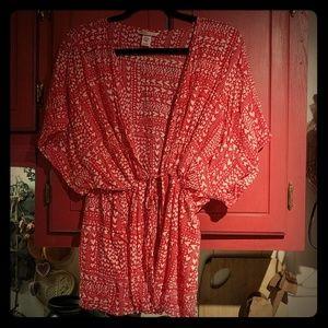 Victoria's Secret Heart Print Short Robe